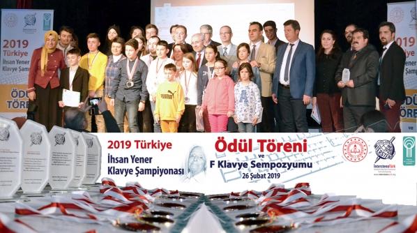 2019 Türkiye İhsan Yener Klavye Şampiyonası Ödül Töreni ve F Klavye Sempozyumu